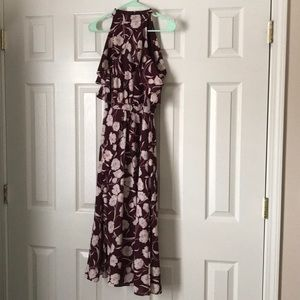 Lauren Conrad Runway Size 8 Burgundy Floral Dress